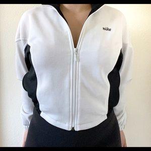 Vintage Nike Black White Zip Up Jacket